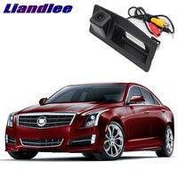 LiandLee Car Trunk Handle Rear View Reversing Parking Camera For Cadillac ATS XTS 2013~2018