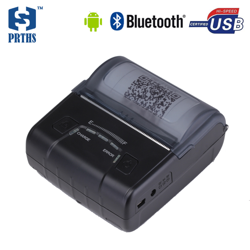 Durable 80mm Android portable bluetooth thermal receipt printer with 2500mAh battery can provide SDK for project HS-E30UA mtp 3 small portable bluetooth thermal printer 80mm sticker printer ticket printer support andrews apple phone 1pc