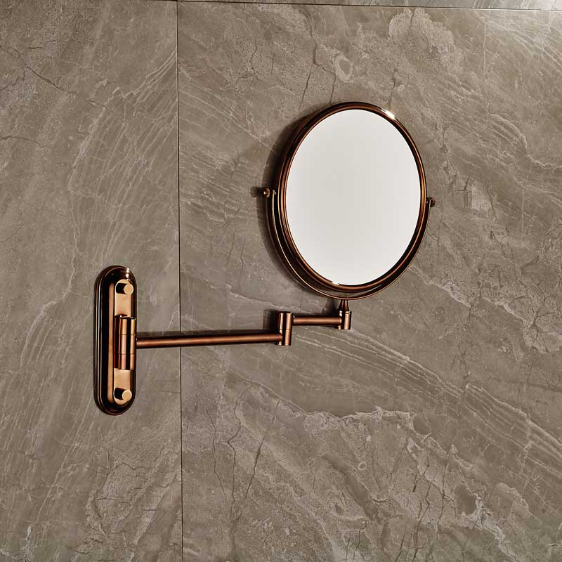 Rose Golden Make Up Magnifying Mirror Bathroom Wall Mounted Extending  Double Side Round Folding Shaving Mirror In Bath Mirrors From Home  Improvement On ...