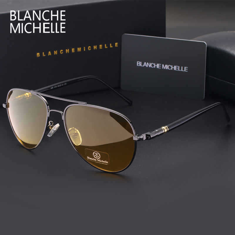 Image 4 - Blanche Michelle 2019 High Quality Polarized Sunglasses Men Brand Designer Sun Glasses Driving UV400 Vintage oculos With Box-in Men's Sunglasses from Apparel Accessories on AliExpress