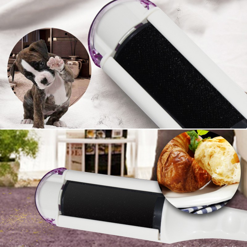 White Electric Brush Sweeper Electrostatic Static Cloth Lint Dust Dog Pets Hair Cleaner Clothing Remover Devices