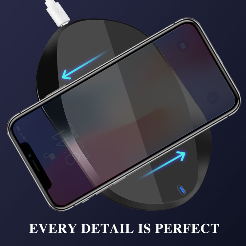 1Pcs Wireless Charger For iPhone X 8 Plus 7 5W 10W Wireless Charging For Samsung Galaxy S8 S9 S7 Edge Qi USB Wireless Charge in Mobile Phone Chargers from Cellphones Telecommunications