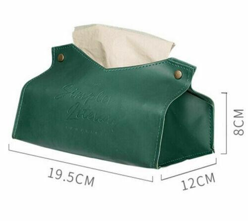 Новейшая Полезная полиуретановая кожа коробка крышка салфетница чехол домашний Автомобиль стол Декор Вынимаемые салфетки коробки дропшиппинг