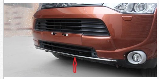 ФОТО Chrome front bumper Bottom Lip trim molding for Mitsubishi Outlander 2013 2014