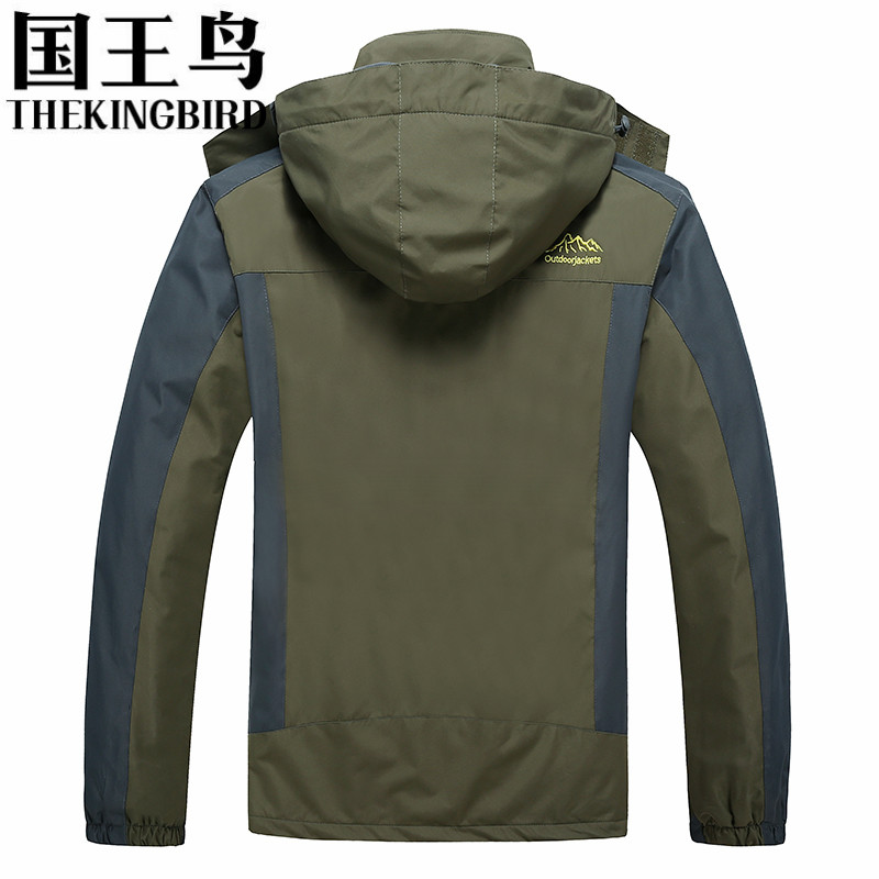 THEKINGBIRD Men's jacket Outdoor Camping Rain jacket Waterproof ...