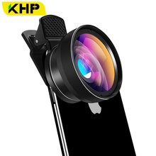 KHP Mobile Phone Lens For Phone Camera Lens Cell Smart 0.45X Wide Angle 12.5X Micro Lens For iPhone X 8 7 Sony Xiaomi Cellphoone(China)
