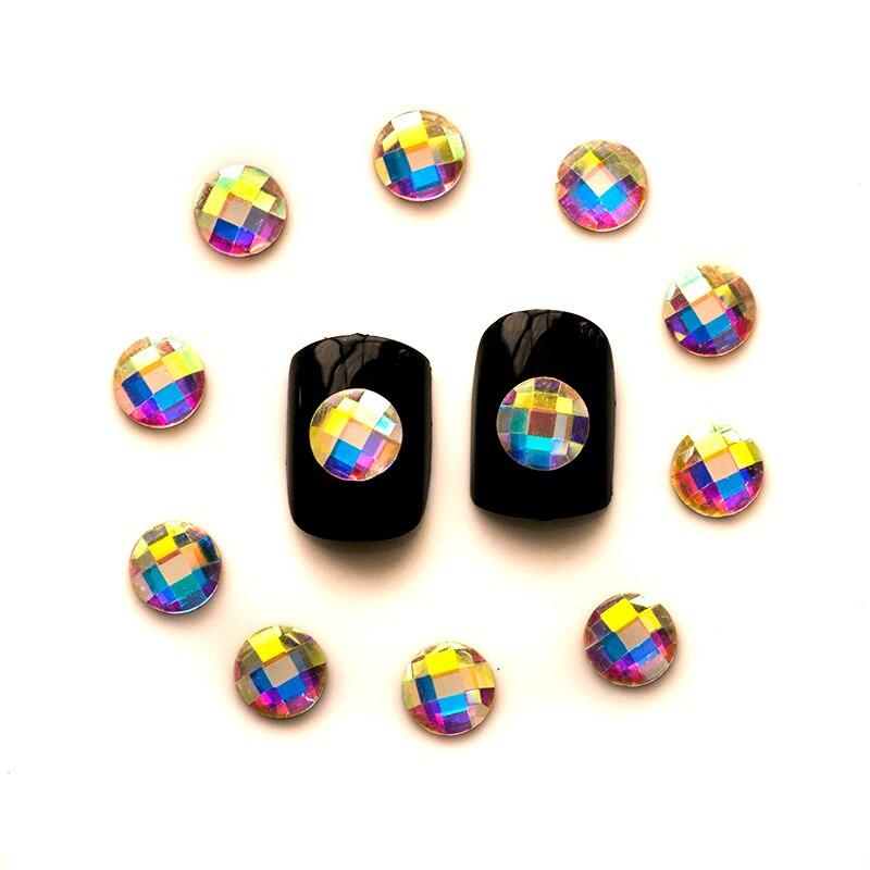 YANRUO 36pcs AB Crystal flat back Charms Beauty Rhinestone Shiny Diamond  DIY 3D Nail Rhinestones For edfc6fa1eb9d
