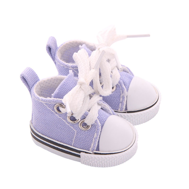 5cm Doll Shoes Denim Sneakers for BJD dolls,Fashion Denim Canvas Mini Toy Shoes 1/6 Bjd For handmade Doll image