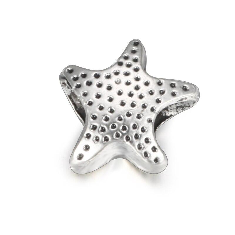 429808080e55 SPINNER de moda encantos de estrella de mar perlas para joyería haciendo  ajuste Pandora pulseras del encanto