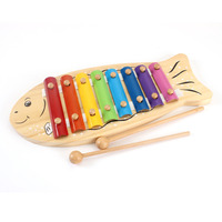 Children Baby 8 Note Fish Xylophone Musical Toys Wisdom Development Colorful Improve Kid Sensitive To Colors