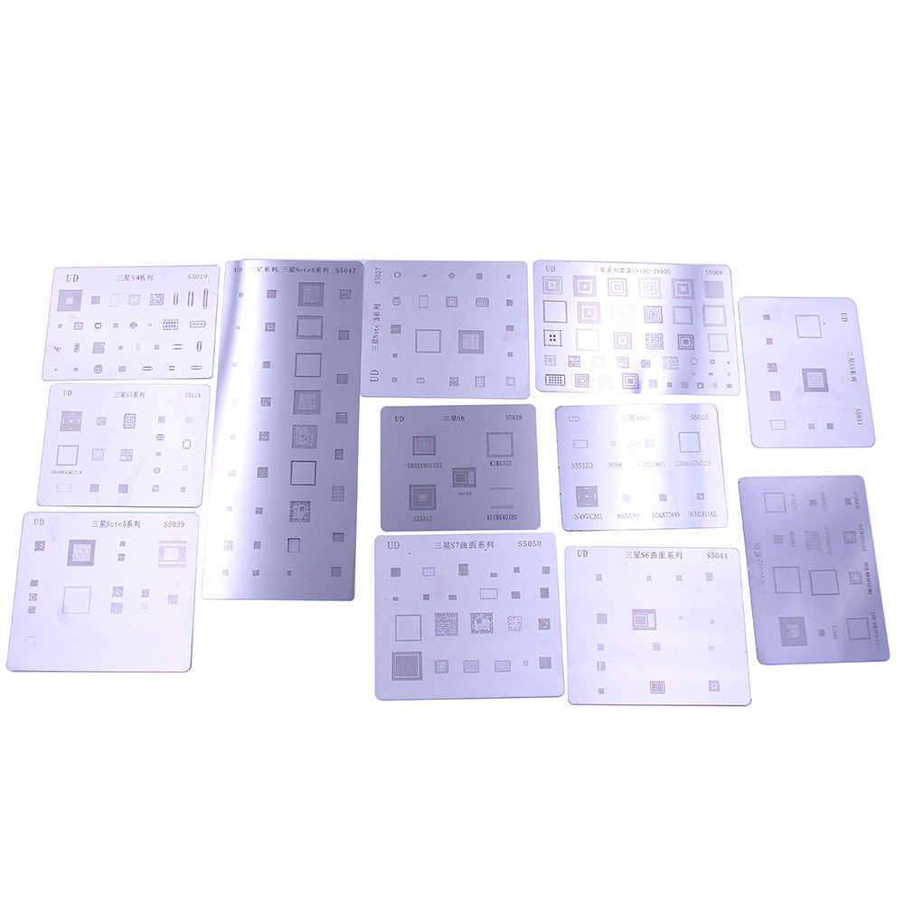 12 шт./лот IC чип наборы трафаретов для пайки BGA набор шаблон припоя Samsung Galaxy S3 S4 S5 S6 S7