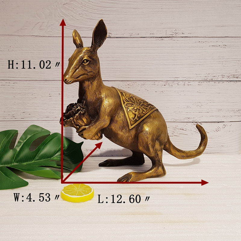 Bronze kangaroo sculpture (1)_副本