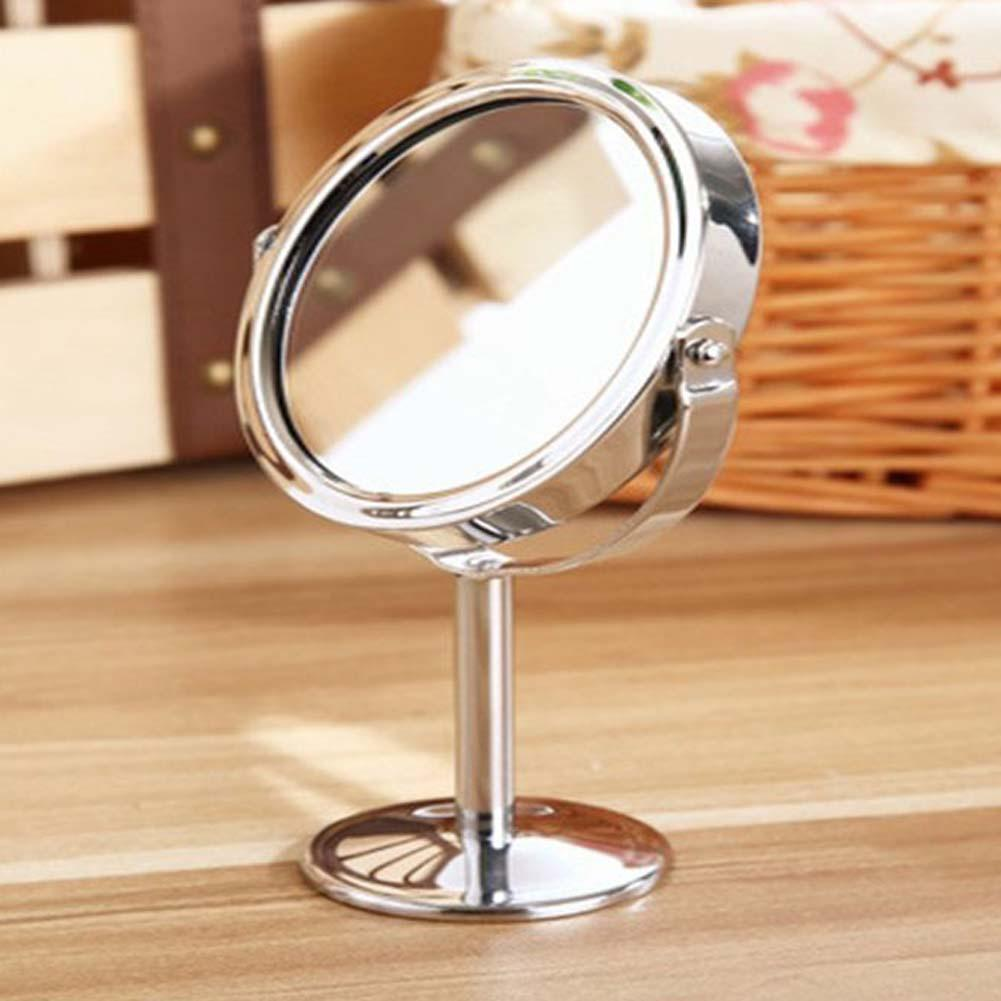 Makeup Mirror Desktop Rotatable Small Size Double-sided Mirror Modeling Tool Portable Women Beauty Makeup Mirror
