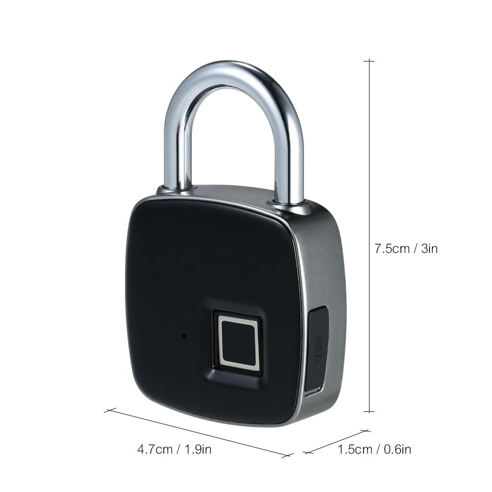 USB Rechargeable Smart Key-less Fingerprint Lock 2