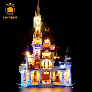 Image 2 - LIGHTAILING 크리 에이 티브 시리즈에 대 한 LED 라이트 키트 신데렐라 공주 성 모델 조명 세트 71040 16008 호환