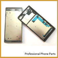 Black White For Sony Xperia Z3 L55 L55w D6603 D6653 Frame Bezel Plate Chassis Housing With
