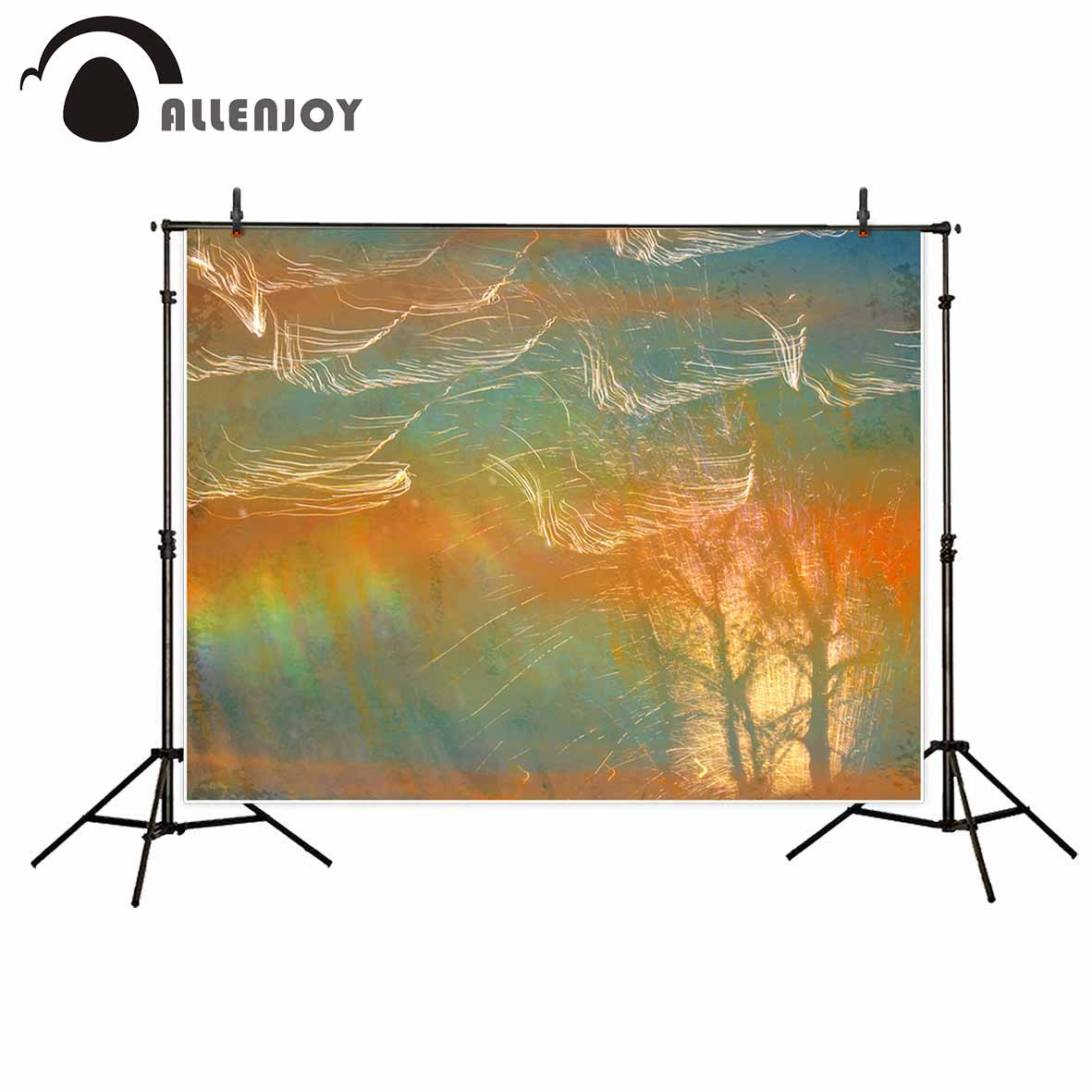 Allenjoy Orange blue abstract beautiful backdrop photography backdrops fond studio photo background for photo photocall stark outpost 16 2016 blue orange