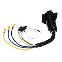 Car Connectors Trailer 4 Way To 7way Flat Electrical Adapter Trailer Plug Trailer Electrics Input 6