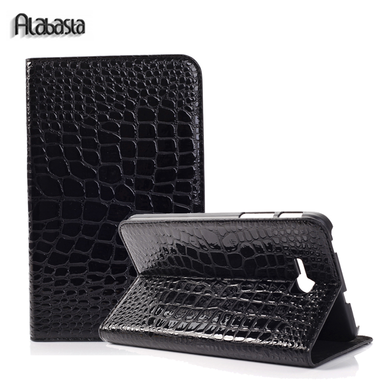 For Samsung Galaxy Tab 4 7.0 inch T230 SM-T231 Alabasta PU Leather Tablet Flip Stand cover case Crocodile stylus beautiful gitf leather case stand cover for samsung galaxy tab 4 7inch tablet sm t230 sm t231 film pen reel drop shipping jan04
