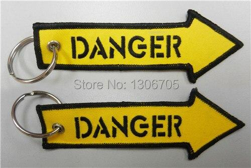 Опасность желтая стрелка авиации вышитые брелок самолет