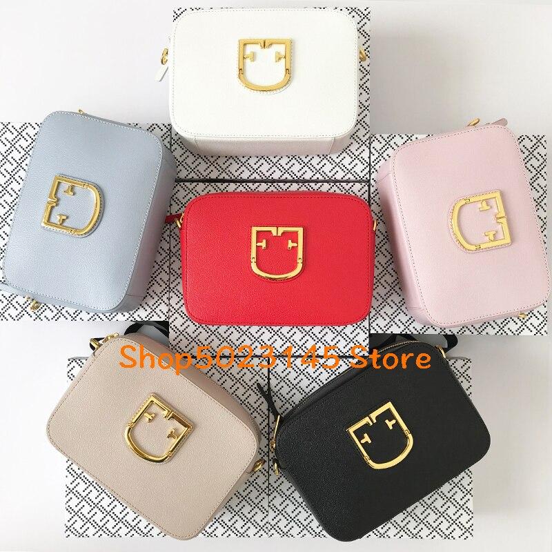 2019 latest 20cm women s geometric wide shoulder strap bag shoulder bag brand name leather cowhide
