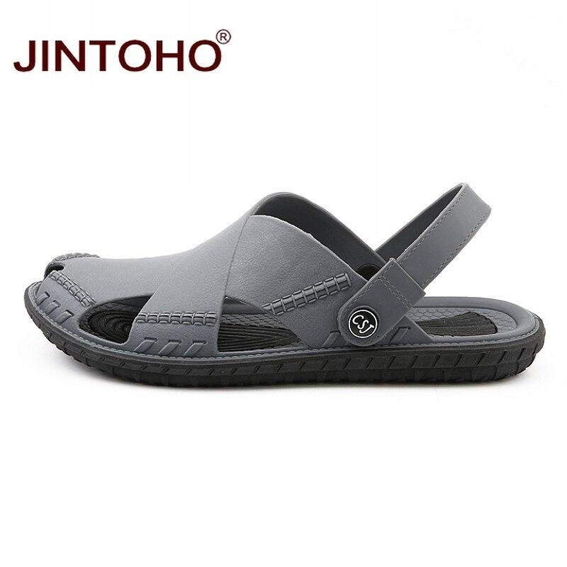 Image 4 - JINTOHO Summer Mens Sandals Fashion Summer Beach Shoes Casual Beach Sandals Outdoor Male Sandal 2019 Sandalias MenMens Sandals   -