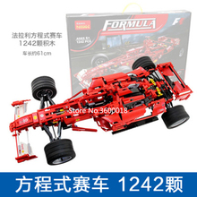 Decool 3335 Technic 1242pcs Large 1:10 F1 racing model educational building brick block children toys compatible legos 8674 цена