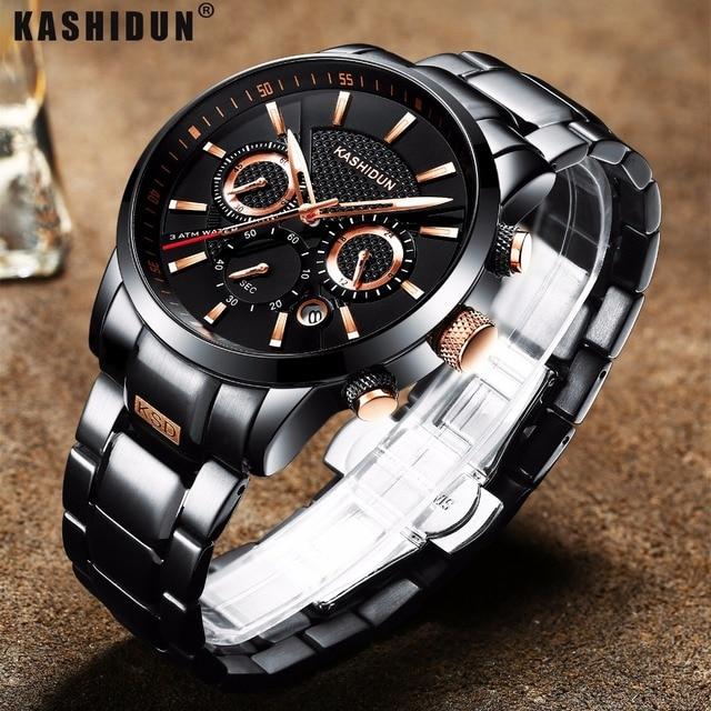 f4e19206a7ba KASHIDUN Marca De Lujo Para Hombre Relojes Deportivos A Prueba de agua Reloj  Militar Hombres Moda Casual Cuarzo Reloj de Pulsera Caliente