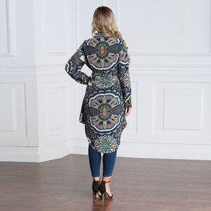 Image 4 - Plus UAE Islam Arabic Long Blouse Tops Women 6XL 7XL 2019   Malay abaya Muslim Turkish  Womens WearLoose Shirt   Large Size