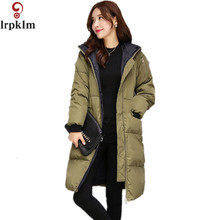 2017 New Winter Long Jacket  Warm Overcoat Loose Outerwear Comfortable High Quality Cold Proof Coat Cotton Hooded  Cape  LZ055