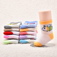 Hot sales new design 1-3 years old baby cartoon baby warm socks spring socks comfortable soft wear-resistant anti-wrinkle(China)