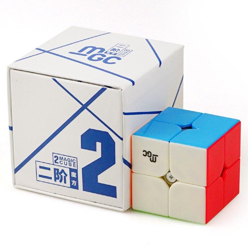 YJ YongJun MGC Magnetische Mini Cube 50mm 2x2 Hohe Qualität Geschwindigkeit Glatt Professionelle Puzzle Magic cube Bildung klassische Spielzeug