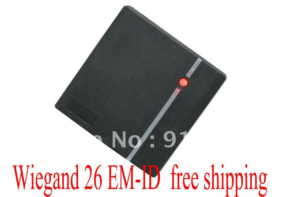 Free Shipping +low cost +EM rfid reader + 125khz+ wiegand 26 output access control + waterproof 5pcs lot free shipping outdoor 125khz em id weigand 26 proximity access control rfid card reader with two led lights
