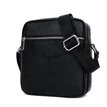BULLCAPTAIN Fashion Genuine Leather Shoulder bag men causal Crossbody B