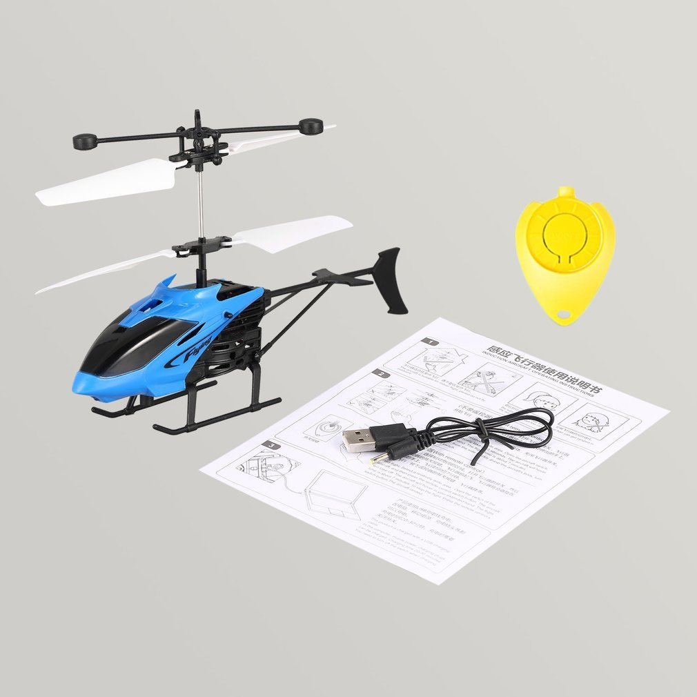 D715 Falcon Flying Mini RC Helicopter Infrared Induction RC Drone with LED Flashing USB Remote Control Helicopter