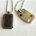 For Man Rectangle Pendants Bio Scalar Energy Pendants +Nano Card + Gift box 4 in 1 Energy Ball Magnetic Charms 2pcs/lot