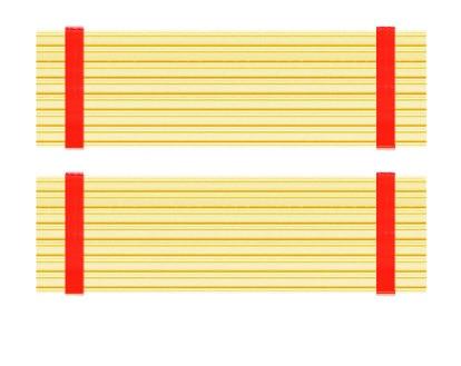 2PCS M.2 2280 Heatsink for nvme Cooling Vest PC Heatsink High thermal conductivity Cooling past 71*22*3mm Gold Color Heatsink