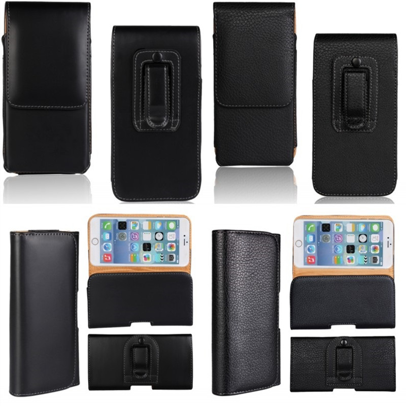 Holster Case For iPhone 7 6 6S Plus Cover Men Belt Clip Leather Pouch Waist Bag Phone Cover For iPhone 7 P