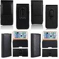 Holster case para iphone 7 6 6 s plus cubierta hombres bolsa de cuero clip de cinturón bolso de la cintura cubierta del teléfono para iphone 7 6 plus se 5 5S 4 4S 3GS