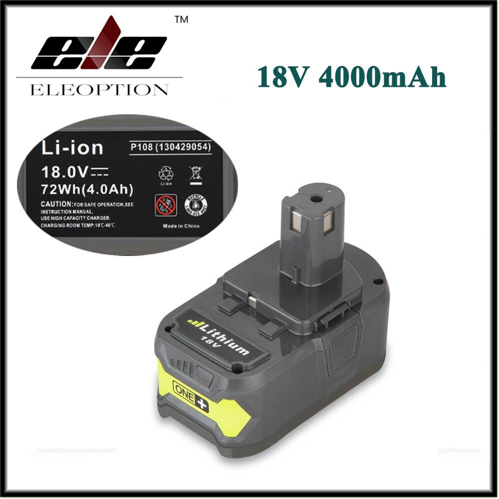 Eleoption 18V 4000mAh Li Ion High Capacity Rechargeable Battery Pack font b Power b font font