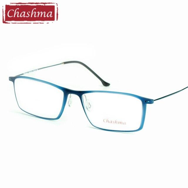 Chashma Marca Olho Óculos TR 90 óculos de Armação De Titânio Templo Óculos  Luz Óculos Mulheres 7fa90004e1