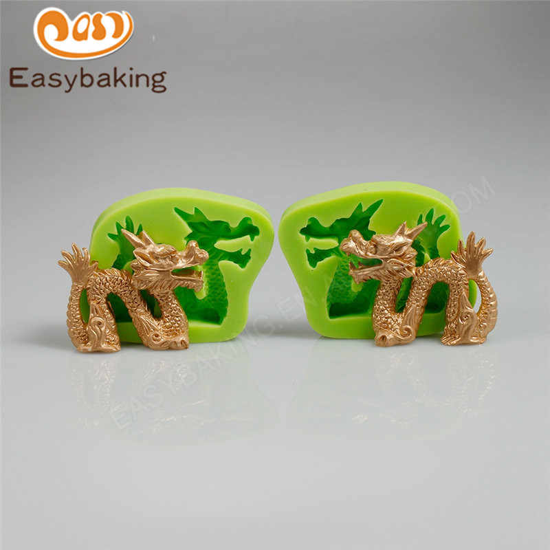 2PCS Chinese Dragons Silicone Mold Candy Chocolate Art and Craft Mould Cooking Tools Fondant Cake Decorating Molds