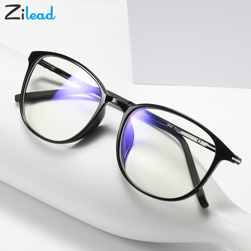 Zilead Anti Blue-light Plain Reading Glasses Computer Custom Radiation Protection Spectacle Glasses Eyewear Frame For Women&Men