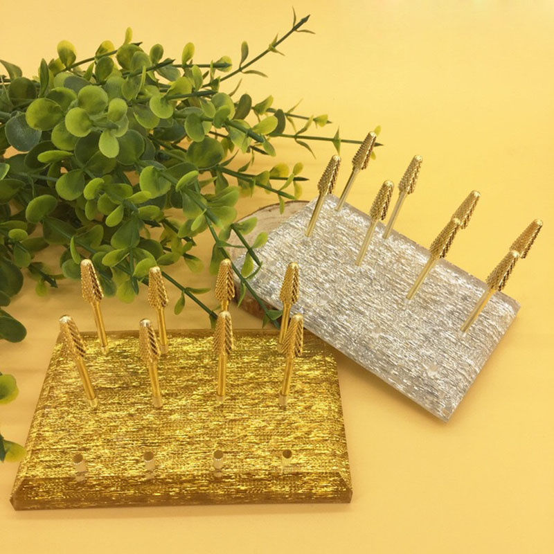 2018 12 Holes Nail Drill Bits Holder Acrylic Grinding Head Display Base Manicure Nails Art Tool Storage Stand