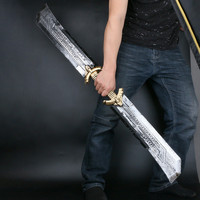 22Inches Thanos PU Double edged Sword Weapon Props 1:1 Simulation Rubber Cosplay Toys OPP D227