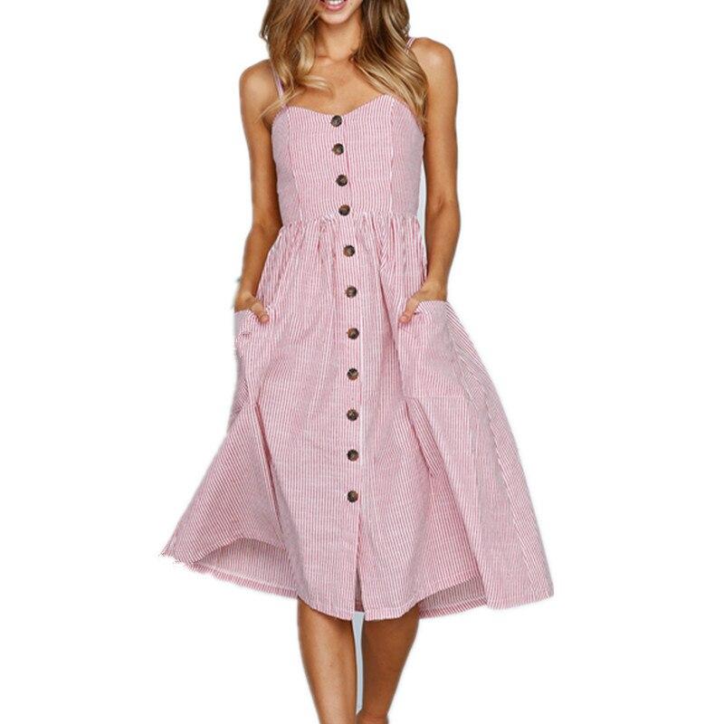 Summer Strap Print Floral Long Boho Bohemian Beach Dress Women Sundress Sexy Casual Elegant Vintage Ladies Pockets Dress 2018