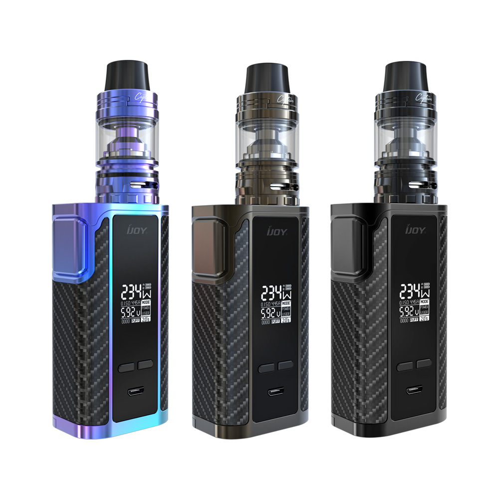 2PCS Original IJOY Captain PD270 Kit with 4ml Captain S Tank fit for 234W Captain PD270 BOX dual 20700 Battery included original ijoy saber 100 20700 vw kit max 100w saber 100 kit with diamond subohm tank 5 5ml