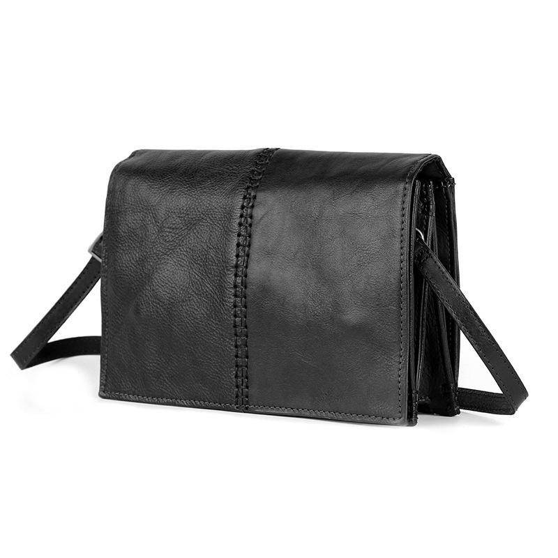 AETOO Retro fashion new leather women's leather cowhide satchel handmade tanned leather square bag aetoo spring and summer new leather handmade handmade first layer of planted tanned leather retro bag backpack bag