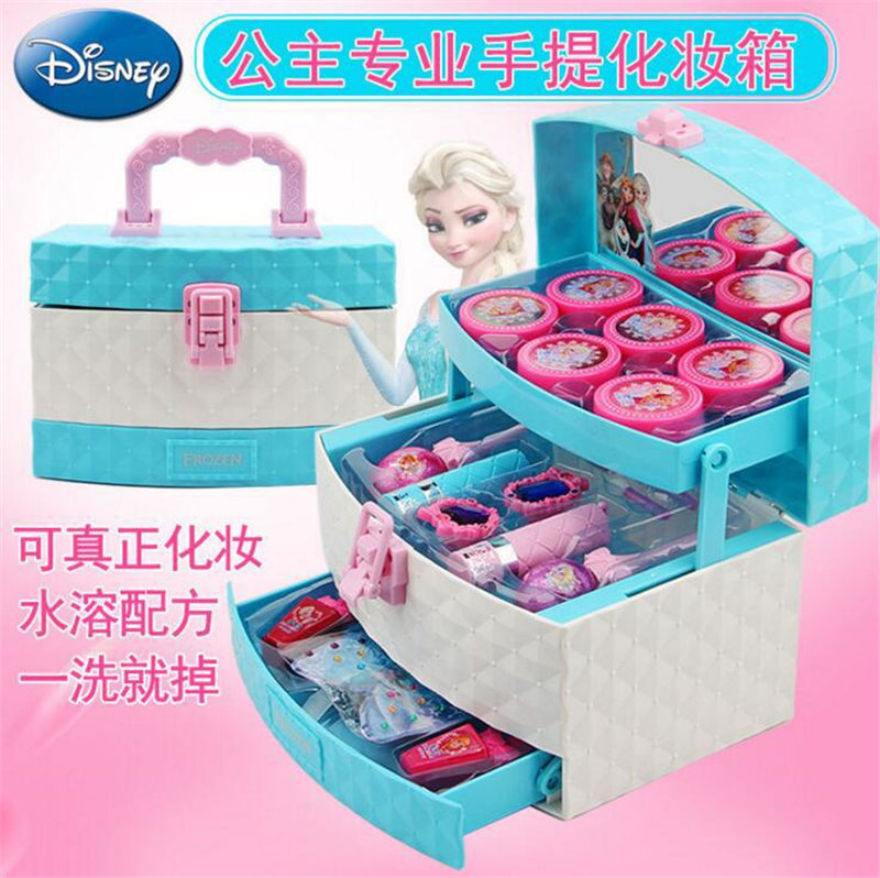 2019 New Frozen Children Cosmetic Set Princess Makeup Box Performance Nontoxic Lipstick Girls Play house Toys2019 New Frozen Children Cosmetic Set Princess Makeup Box Performance Nontoxic Lipstick Girls Play house Toys