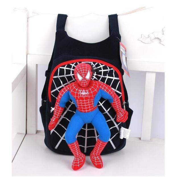 Nueva Lindo de la Alta Calidad del hombre araña 3D bolso de escuela del morral de los niños bolsas mochila infantil niños bolsas de viaje rojo negro EWX